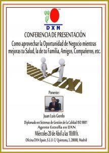 20160411  Presentación Oficina DXN Madrid.